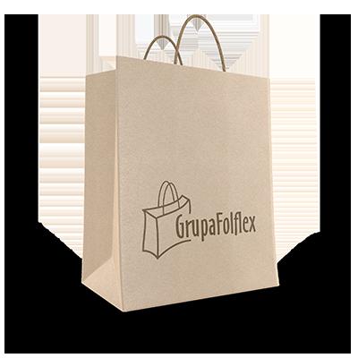 wzór torby papierowej z nadrukiem